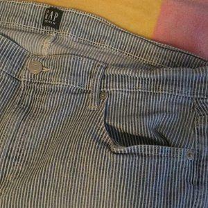 true skinny gap striped denim jeans